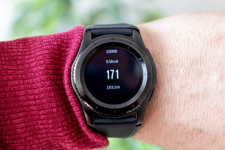 Smartwatch showing activity data
